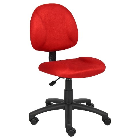 Microfiber Deluxe Posture Chair Red - Boss Office Products - image 1 of 3