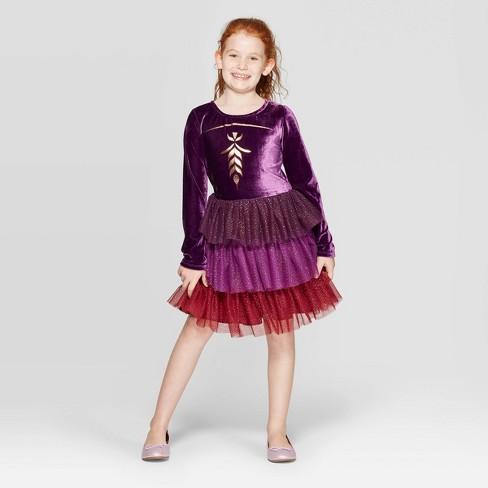 Girls' Frozen Anna Cosplay Dress - Purple - image 1 of 3