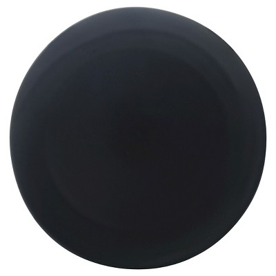 10 Strawberry Street Matte Wave Stoneware Charger Plates 12.8  Black - Set of 6