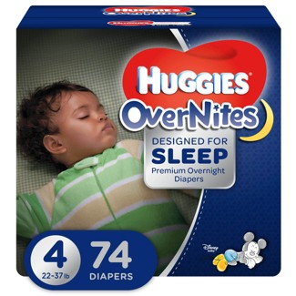 Huggies OverNites Diapers - Size 4 (74ct)