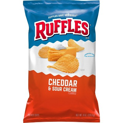 Ruffles Cheddar And Sour Cream Chips - 8.5oz