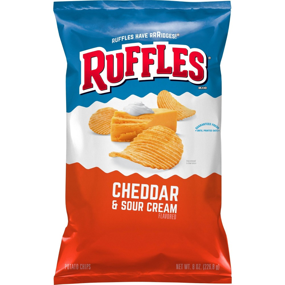 Ruffles Cheddar And Sour Cream Chips 8 5oz