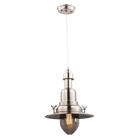 Maxim Hi-Bay 1-Light Pendant Silver - image 1 of 1