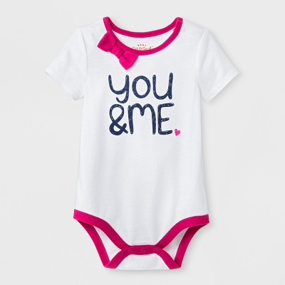 Baby Girls' Bodysuit - Cat & Jack™ Eco White 0-3M