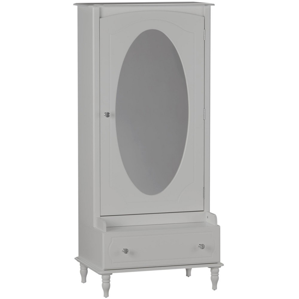 Image of Rowan Valley Laren Armoire with Mirror - Gray - Little Seeds