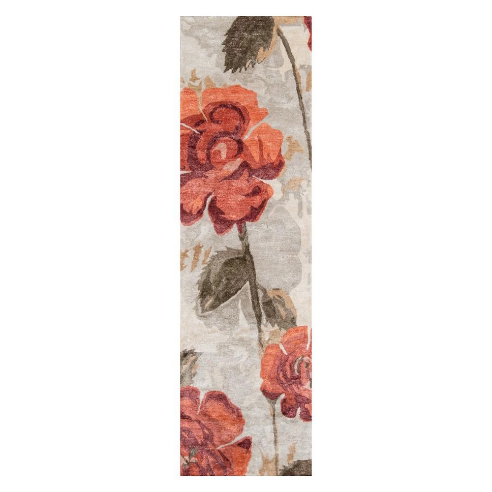 2'3X8' Floral Tufted Runner Red - Momeni