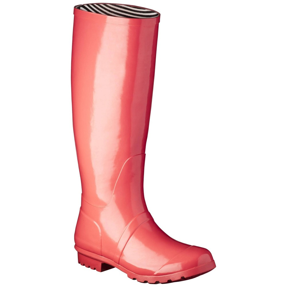 Women S Classic Knee High Rain Boot Coral 10