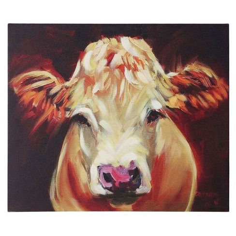 Cow Canvas Wall Décor - 3R Studios : Target