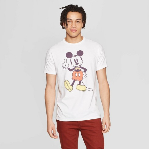 Men's Mickey Mouse Short Sleeve Crewneck Graphic T-Shirt - Awake White - image 1 of 2