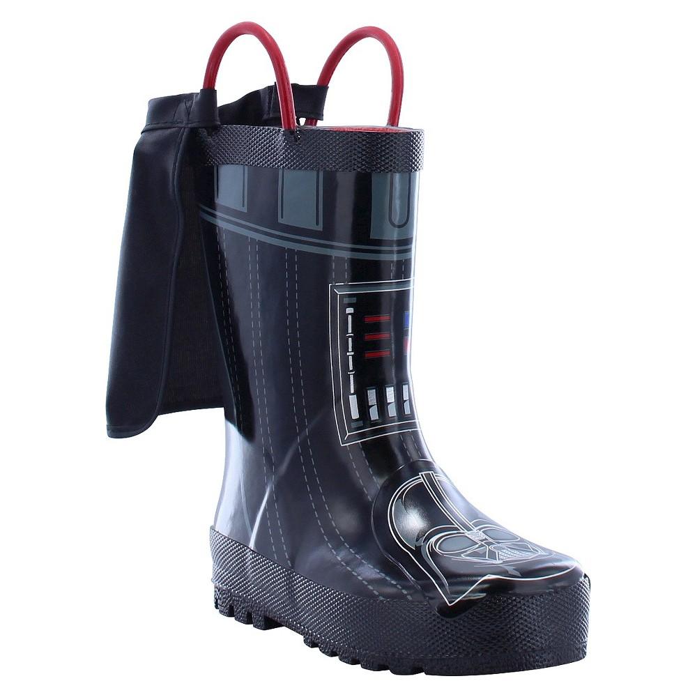 Toddler Boys' Star Wars Darth Vader Rain Boots - Charcoal 8, Gray