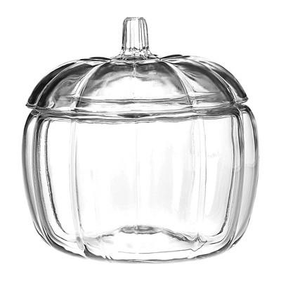 Anchor Hocking 70oz Halloween Pumpkin Decorative Glass Jar (with Lid)- Clear