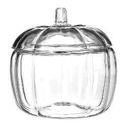 Anchor Hocking 70oz Halloween Pumpkin Decorative Glass Jar (with Lid) - Clear