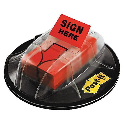 "Post-it® Flags High Volume Flag Dispenser, ""Sign Here"", Red, 200 Flags/Dispenser - image 1 of 1"