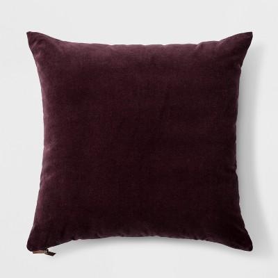 Velvet with Zipper Square Throw Pillow Purple - Threshold™