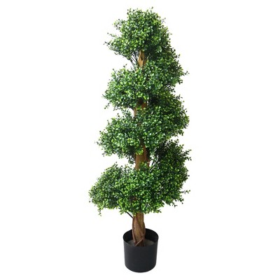 Pure Garden 4ft Boxwood Spiral Tree