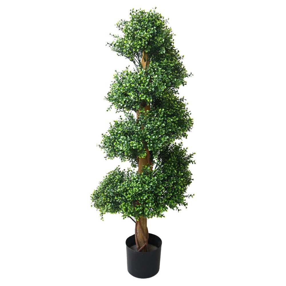 Image of Pure Garden 4ft Boxwood Spiral Tree