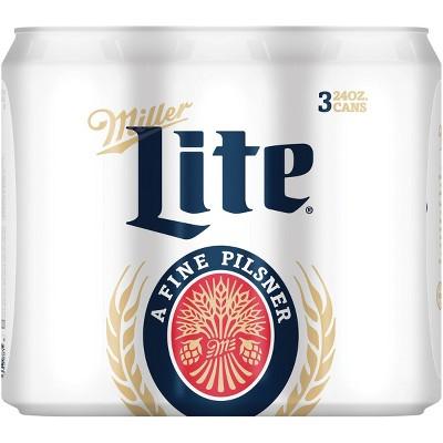 Miller Lite Beer - 3pk/24 fl oz Cans