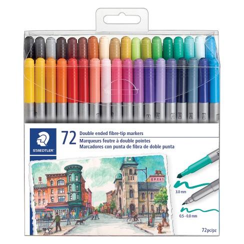 24 X Fibre tip felt Pens set Washable Adult colouring book fiber pen