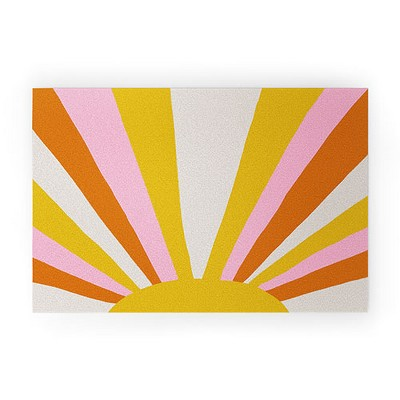 Sunshinecanteen Sunshine Love Looped Vinyl Welcome Mat - Society6