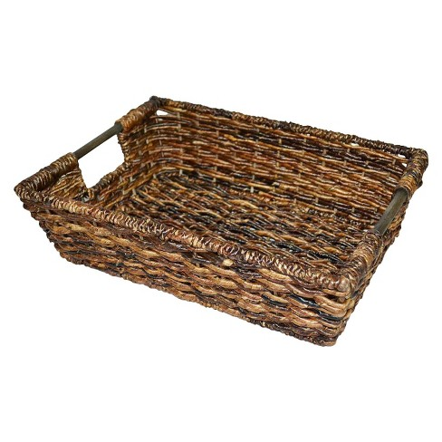 Wicker Large Decorative Tray - Dark Global Brown - Threshold™ - image 1 of 1