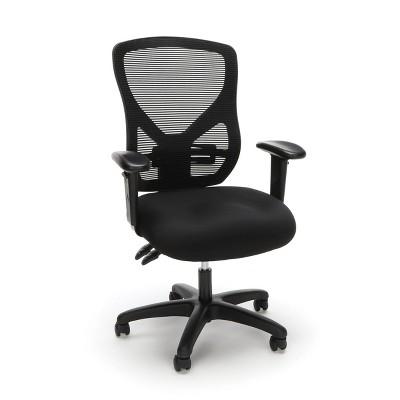 Ergonomic Adjustable Mesh Office Chair Black - OFM