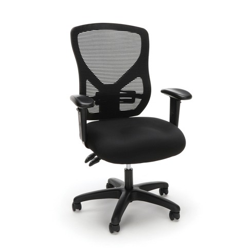 Ergonomic Adjustable Mesh Office Chair Black Ofm Target
