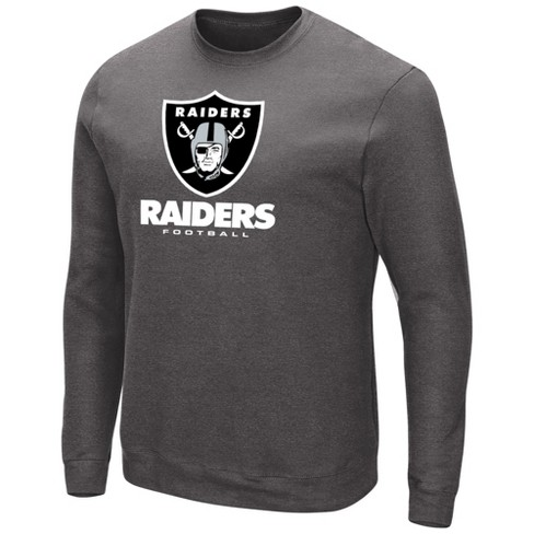 652d4874a908 Oakland Raiders Men s Gray Our Team Long Sleeve Big   Tall T-Shirt ...
