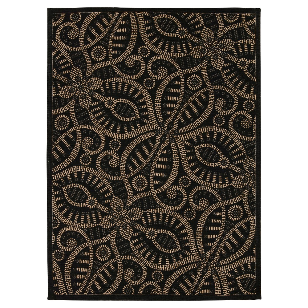Waverly Belle of the Ball Color Motion Area Rug - Black Licorice (5'X7')