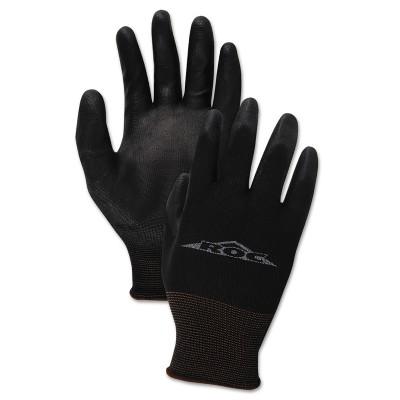 Boardwalk PU Palm Coated Gloves Black Size 9 (Large) 1 Dozen 000289