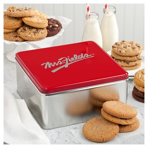 Mrs. Fields Classic Cookie Tin With Two Dozen Cookies - image 1 of 2