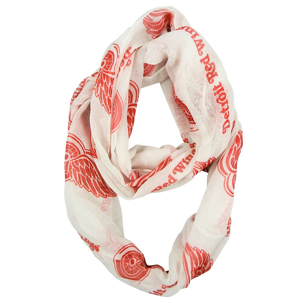 NHL Detroit Red Wings Sheer Secondary Color Infinity Scarf, Women's