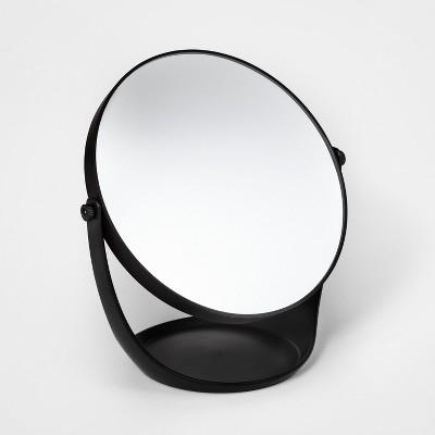 Plastic Vanity Mirror Black - Room Essentials™