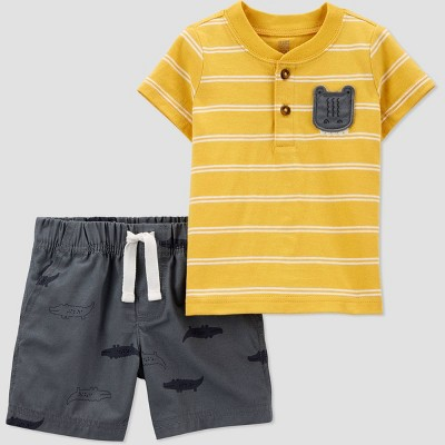 Baby Boys' 2pc Gator Top & Bottom Set - Just One You® made by carter's Yellow 6M