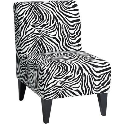 Studio 55D Zebra Print Slipper Accent Chair