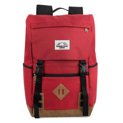 """Mountain Edge 19"""" Deluxe Drawstring Backpack - Red"""