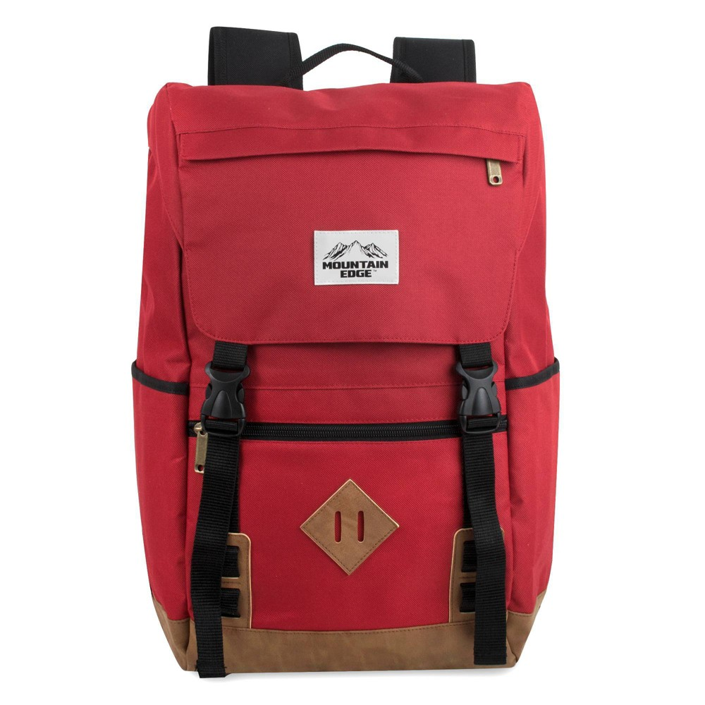 """Image of """"Mountain Edge 19"""""""" Deluxe Drawstring Backpack - Red"""""""