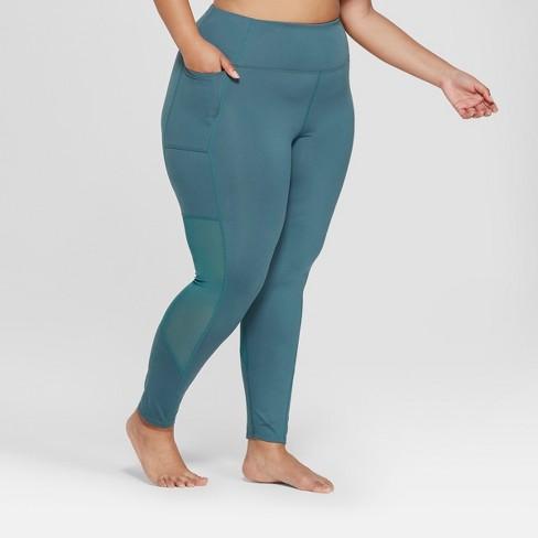 e6949cca6f51b Women's Plus Size Comfort 7/8 Mesh Panel High-Waisted Leggings - JoyLab™