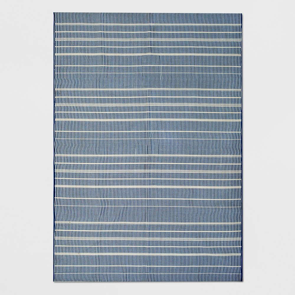 7' x 10' Tonal Stripe Outdoor Rug Blue - Project 62