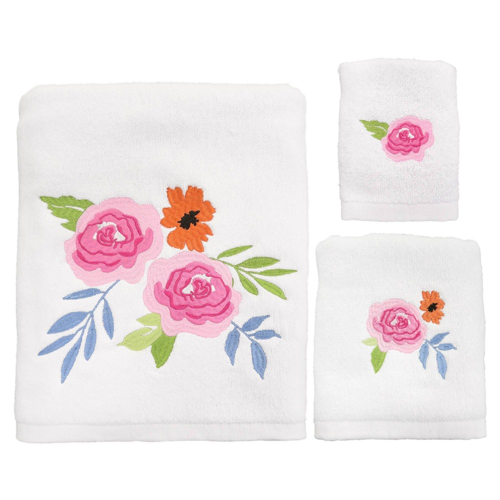 Image of 3pc Floral Burst Bath Towel Sets - Allure Home Creation