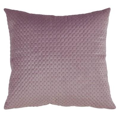 Poly Filled Pinsonic Velvet Pillow Lavender - Saro Lifestyle