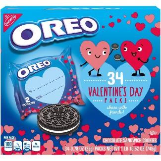 Oreo Valentines Multipack Chocolate Cookies - 34ct