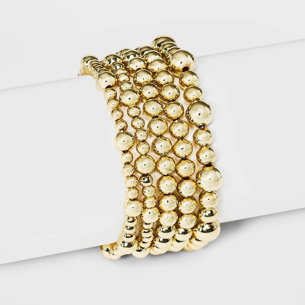 Sugarfix By Baublebar Gold Beaded Bracelet Set Gold