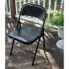 Folding Chair Vinyl Padded Black - Plastic Dev Group - image 3 of 4