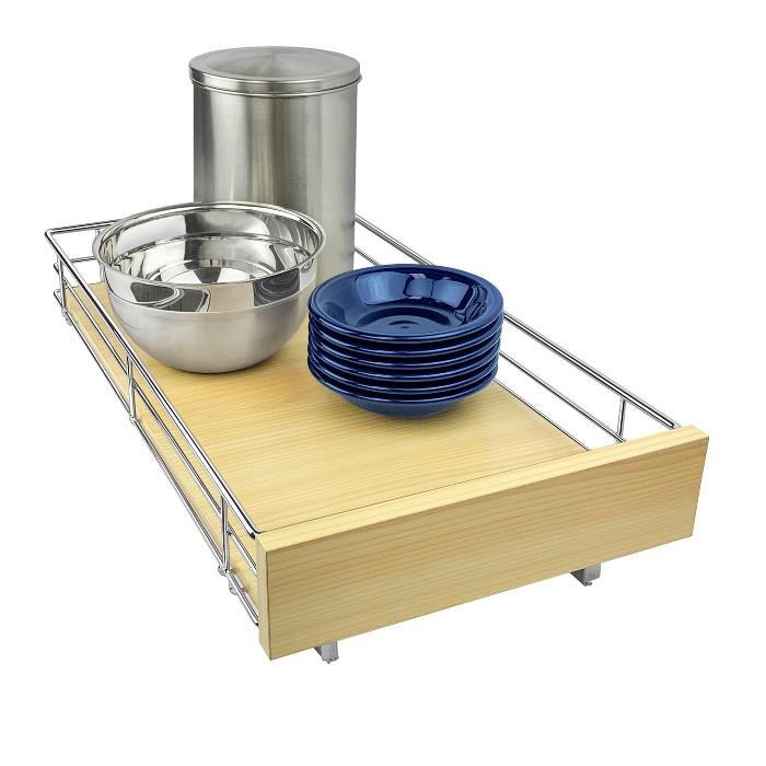 "Lynk Professional 11"" x 22"" Chrome Kitchen Cabinet Organizer - image 1 of 6"