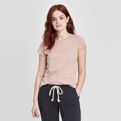 Women's Short Sleeve T-Shirt - Universal Thread™ Blush Brown L