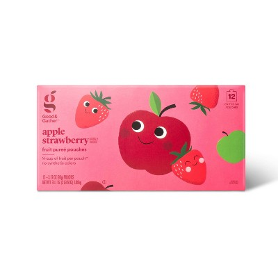 Applesauce Pouches Strawberry - 12ct - Good & Gather™