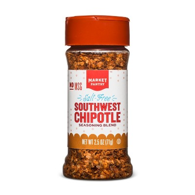 Salt Free Southwest Chipotle Seasoning Blend - 2.5oz - Market Pantry™