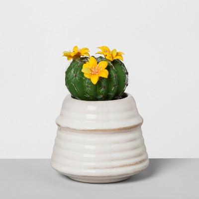 Artificial Flowering Cactus - Opalhouse™