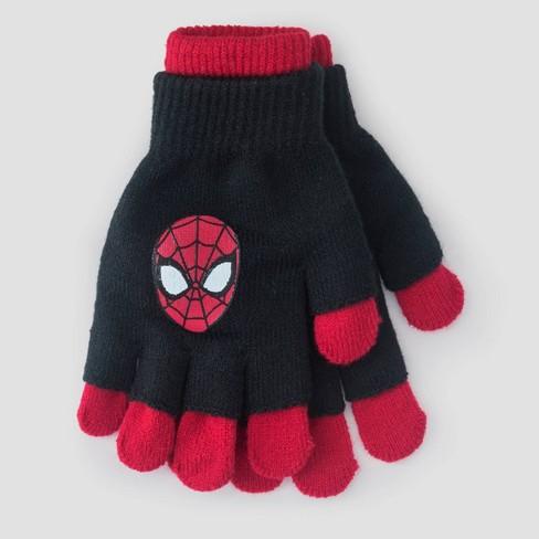 Kids' Spider-Man Gloves - Black - image 1 of 1