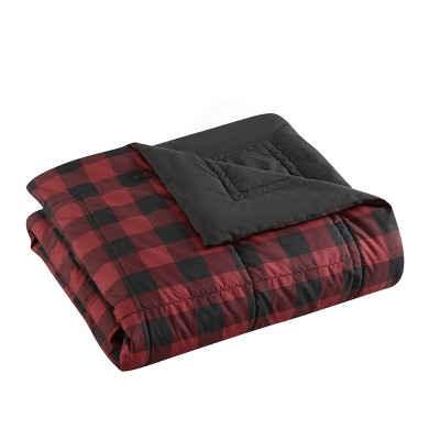 Mountain Plaid Bed Blanket Red - Eddie Bauer